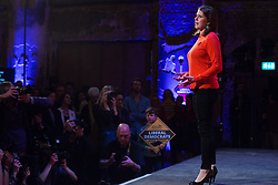 London, UK. 9 November, 2019. Jo Swinson, leader of the Liberal Democrats, addresses the Rally for the Future in Battersea in order to set out the party's vision to Stop Brexit and Build A Brighter Future.