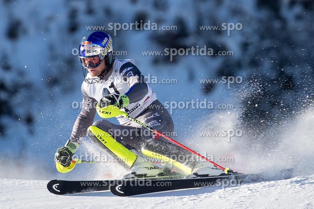 22.01.2017, Hahnenkamm, Kitzbühel, AUT, FIS Weltcup Ski Alpin, Kitzbuehel, Slalom, Herren, 1. Lauf, im Bild Alexis Pinturault (FRA) // Alexis Pinturault of France in action during his 1st run of men's Slalom of FIS ski alpine world cup at the Hahnenkamm in Kitzbühel, Austria on 2017/01/22. EXPA Pictures © 2017, PhotoCredit: EXPA/ Johann Groder