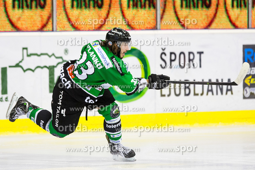 14.10.2014, Hala Tivoli, Ljubljana, SLO, EBEL, HDD Telemach Olimpija Ljubljana vs EHC Liwest Linz, 11. Runde, in picture David Planko (HDD Telemach Olimpija, #23) during the Erste Bank Icehockey League 11. Round between HDD Telemach Olimpija Ljubljana and EHC Liwest Linz at the Hala Tivoli, Ljubljana, Slovenia on 2014/10/14. Photo by Matic Klansek Velej / Sportida