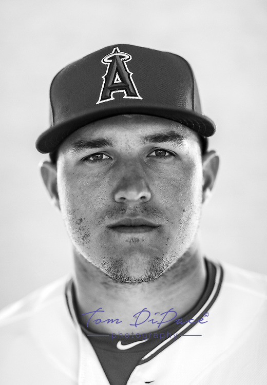 LA Angels Mike Trout poses for a portrait on 2.28.17<br /> ( Photo/Tom DiPace) LA Angels Mike Trout poses for a portrait