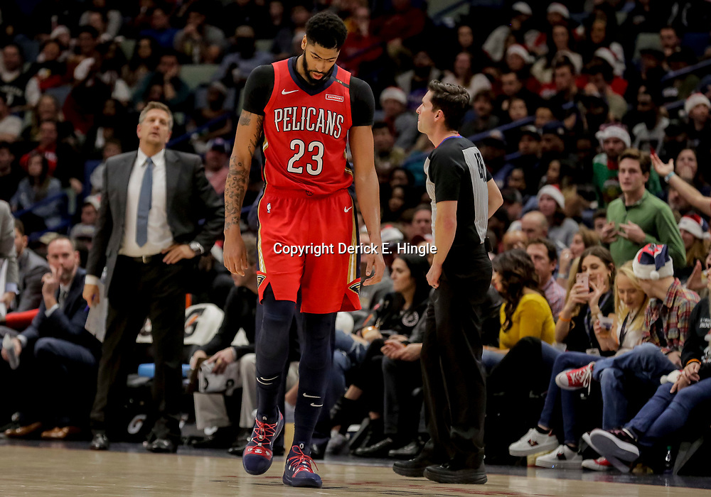 Dec 16, 2018; New Orleans, LA, USA; New Orleans Pelicans forward Anthony Davis (23) against the Miami Heat during the second half at the Smoothie King Center. Mandatory Credit: Derick E. Hingle-USA TODAY Sports