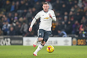 Wayne Rooney Forward of Manchester United during the EFL Cup semi final match 2 between Hull City and Manchester United at the KCOM Stadium, Kingston upon Hull, England on 26 January 2017. Photo by Phil Duncan.