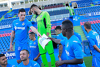 Getafe CF's Nicolas Gorosito (l) and Amath Ndiaye during the session of the official photo of the first team squad for the 2017/2018 season. September 19,2017. (ALTERPHOTOS/Acero)