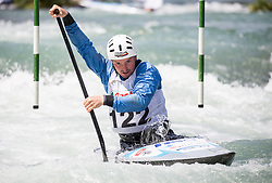Jakob Jeklin of Slovenia competes in Canoe Single (C1) Men during International Slalom Kayak-Canoe competition, on May 6, 2018 in Tacen, Ljubljana, Slovenia. Photo by Vid Ponikvar / Sportida