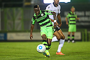Forest Green Rovers Drissa Traore (4) passes the ball during the Vanarama National League match between Forest Green Rovers and Eastleigh at the New Lawn, Forest Green, United Kingdom on 13 September 2016. Photo by Shane Healey.