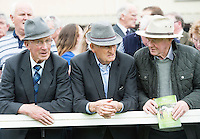 Michael Casel, Mohill, Paddy Keany Ballforan  Roscommon and Eamon King from Connemara  at the 93rd annual Connemara Pony show in Clifden Co. Galway  Photo:Andrew Downes, XPOSURE <br />   Photo: Andrew Downes, Xposure.