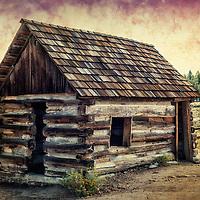 An old miner's cabin in Big Bear Lake, California.