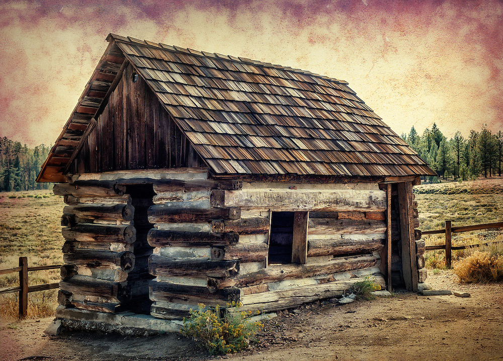 An old miner's cabin in Big Bear Lake, California.