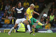 Picture by Paul Chesterton/Focus Images Ltd.  07904 640267.28/7/11 .Bilel Mohsni of Southend United and Zac Whitbread of Norwich City during a pre season friendly at Roots Hall Stadium, Southend...