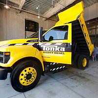 2016 Ford F-750 Tonka Truck on display behind Union Station in Kansas City, Missouri
