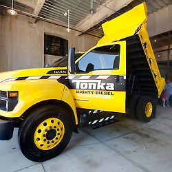 2016 Ford F-750 Tonka Truck on display behind Union Station in Kansas City, Missouri