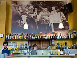 Interior of famous cafe called Anita Wronski in Prenzlauer Berg district of Berlin 2008