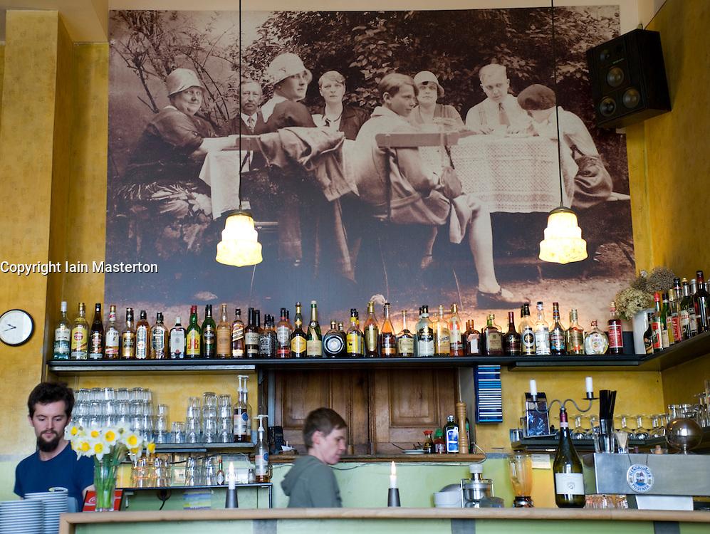 Interior of famous cafe called Anita Wronski in Prenzlauer Berg district of Berlin 2008
