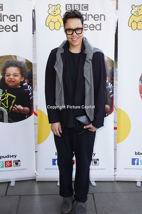 London,England,UK 2015 : Gok Wan arrives for Terry Wogan's Gala Lunch for Children In Need at the Landmark Hotel on November 01, 2015 in London, England. Photo by See Li