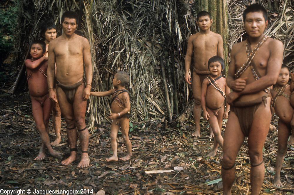 South America, Venezuela, Guiana highlands: group of Hoti Indians.