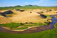 Mongolie, province de Ovorkhangai, dune de sable dans le parc de Batkhan // Mongolia, Ovorkhangai province, sand dune at Batkhan national parc