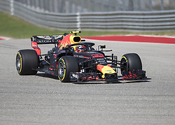October 21, 2018 - Austin, USA - Aston Martin Red Bull Racing driver Max Verstappen (33) of Netherlands runs a warmup lap before the start of the Formula 1 U.S. Grand Prix at the Circuit of the Americas in Austin, Texas on Sunday, Oct. 21, 2018. Versteppen finished second. (Credit Image: © Scott Coleman/ZUMA Wire)