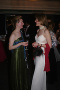 Elizabeth Mason and Annette Johnson Poensgen. The  Royal Caledonian Ball in aid of The Royal Caledonian Ball Trust held at The Grosvenor House Hotel, Park Lane, London W1.  28  April 2005. ONE TIME USE ONLY - DO NOT ARCHIVE  © Copyright Photograph by Dafydd Jones 66 Stockwell Park Rd. London SW9 0DA Tel 020 7733 0108 www.dafjones.com