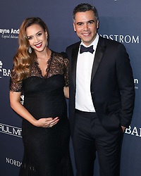 Pregnant Jessica Alba and husband Cash Warren arrive at the 2017 Baby2Baby Gala held at 3LABS on November 11, 2017 in Culver City, California. 11 Nov 2017 Pictured: Jessica Alba, Cash Warren. Photo credit: IPA/MEGA TheMegaAgency.com +1 888 505 6342