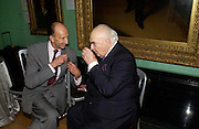 David Metcalfe and Lord Weidenfeld. Celebration of Lord Weidenfeld's 60 Years in Publishing hosted by Orion. the Weldon Galleries. National Portrait Gallery. London. 29 June 2005. ONE TIME USE ONLY - DO NOT ARCHIVE  © Copyright Photograph by Dafydd Jones 66 Stockwell Park Rd. London SW9 0DA Tel 020 7733 0108 www.dafjones.com