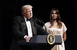President Donald Trump speaks during the annual gala at the Ford's Theatre to honor President Abraham Lincoln's legacy , on June 4, 2017 in Washington, DC. Photo by Olivier Douliery/Sipa USA