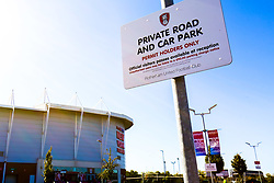 A general view outside the Aesseal New York Stadium, home to Rotherham United - Mandatory by-line: Ryan Crockett/JMP - 21/09/2019 - FOOTBALL - Aesseal New York Stadium - Rotherham, England - Rotherham United v Shrewsbury Town - Sky Bet League One