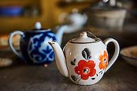 Ouzbekistan, region de Fergana, Richtan, Tchaikhana, maison de thé traditionnelle // Uzbekistan, Fergana region, Richtan, Tchaikhana, traditional tea house