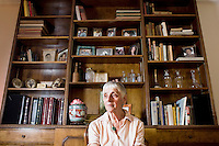 4 December, 2008. New York, NY. Carolyn Cohen, 82, is here in her apartment at 10 West 65th street, near Central Park, where she has been living for the past 49 years. The Touro college has converted about half the apartments of the building into dorm rooms, and the residents are nervous about sharing their building with students.<br /> ©2008 Gianni Cipriano for The New York Times<br /> cell. +1 646 465 2168 (USA)<br /> cell. +1 328 567 7923 (Italy)<br /> gianni@giannicipriano.com<br /> www.giannicipriano.com