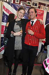 GEORGIA GRIMOND and ALEX MARX at the launch party for the Vicomte A boutique in London at 113 King's Road, London SW3 on 13th December 2012.