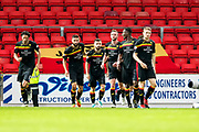 Partick Thistle midfielder Steven Lawless (#11) celebrates Partick Thistle's first goal (0-1) during the Betfred Scottish Cup match between St Johnstone and Partick Thistle at McDiarmid Stadium, Perth, Scotland on 8 August 2017. Photo by Craig Doyle.