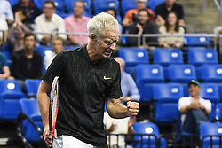 October 4, 2018 - St. Louis, Missouri, U.S - JOHN MCENROE with the fist pump celebration during the Invest Series True Champions Classic on Thursday, October 4, 2018, held at The Chaifetz Arena in St. Louis, MO (Photo credit Richard Ulreich / ZUMA Press) (Credit Image: © Richard Ulreich/ZUMA Wire)