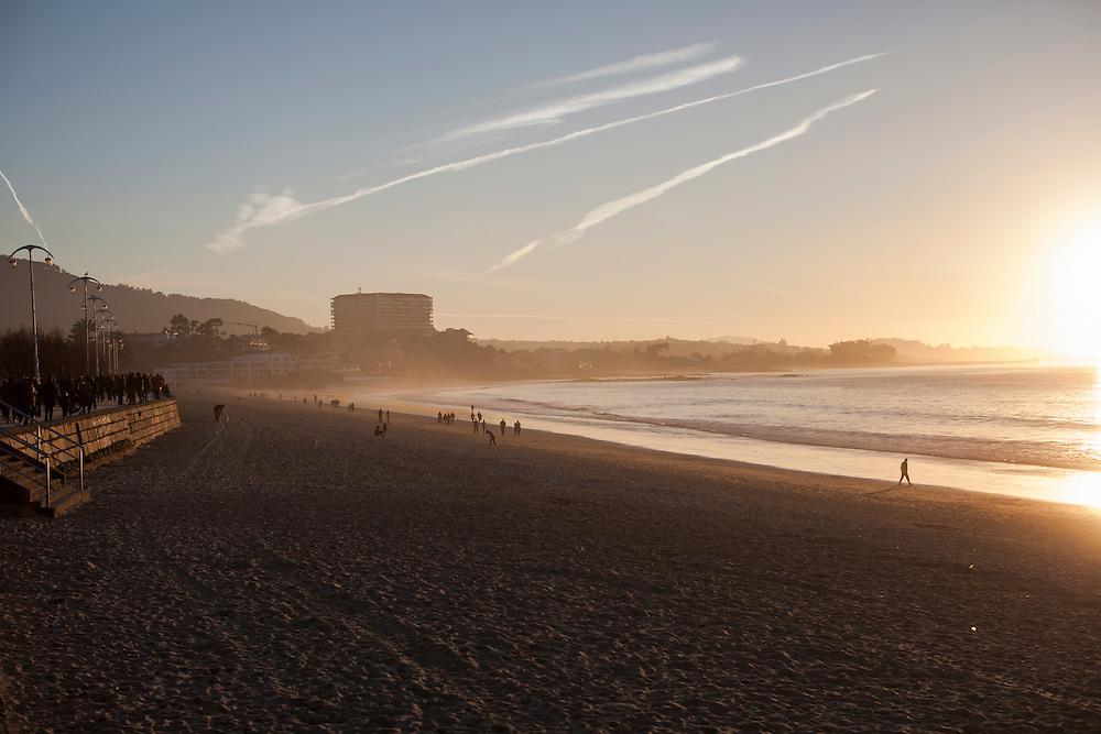 Samil beach at Vigo, Galicia, Spain.
