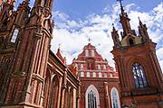 St. Anne's Church and Saints Francis and Bernardine Church in Vilnius, Lithu