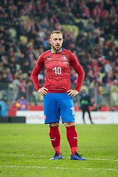 November 15, 2018 - Gdansk, Pomorze, Poland - Jiri Skalak (10) during the international friendly soccer match between Poland and Czech Republic at Energa Stadium in Gdansk, Poland on 15 November 2018  (Credit Image: © Mateusz Wlodarczyk/NurPhoto via ZUMA Press)
