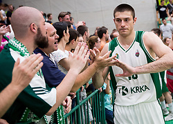 Marko Josilo of Krka after the basketball match between KK Krka Novo mesto and  KK Petrol Olimpija in 4th Final game of Liga Nova KBM za prvaka 2017/18, on May 27, 2018 in Sports hall Leona Stuklja, Novo mesto, Slovenia. Photo by Vid Ponikvar / Sportida