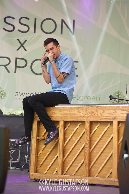 COLUMBIA, MD - May 11th, 2013 - Twenty One Pilots perform on the Treehouse Stage at the 2013 Sweetlife Food and Music Festival at Merriweather Post Pavilion in Columbia, MD. (Photo by Kyle Gustafson / For The Washington Post)