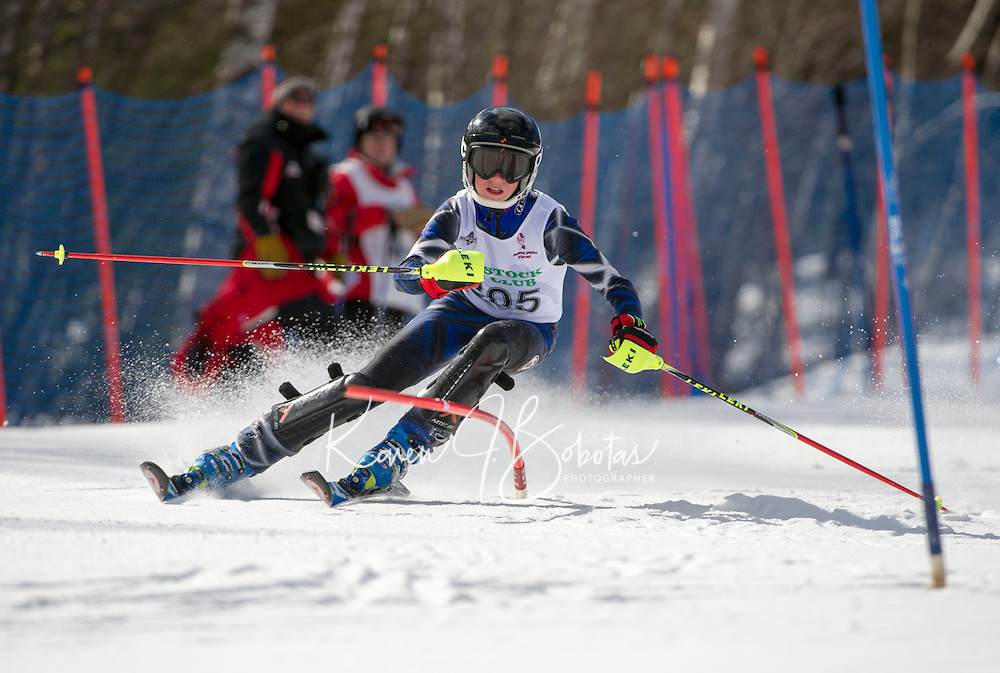 Piche Invitational Slalom U14 boys 1st run Sunday, March 17, 2013.  Karen Bobotas Photographer