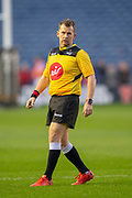 Referee Nigel Owens (WRU) during the Guinness Pro 14 2018_19 match between Edinburgh Rugby and Ulster Rugby at the BT Murrayfield Stadium, Edinburgh, Scotland on 12 April 2019.