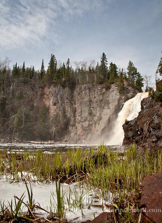 Baptism River High Falls in Tettegouche State Park, Minnesota