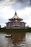 State Legislative Council on the banks of the Kuching River, Sarawak.