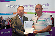 Sean Gorman who received a FETAC level 4 Certificate in Horticulture Science  Safe Horticulture practice from Minister of State for Training & Skills at the department of Education and Science Ciaran Cannon TD at the National Learning Network, Galway Certification Ceremony at the Menlo Park Hotel. Photo:Andrew Downes.
