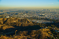 Griffith Observatory and Los Angeles skyline, Hollywood Hills