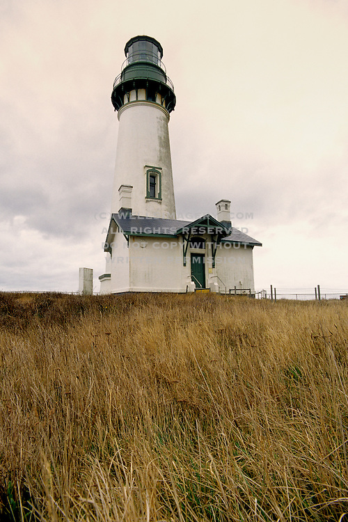 Image of the Yaquina Head Lighthouse in Newport, Oregon, Pacific Northwest