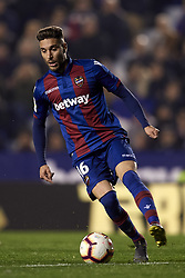 February 24, 2019 - Valencia, Valencia, Spain - Ruben Rochina of Levante controls the ball during the week 25 of La Liga match between Levante UD and Real Madrid at Ciutat de Velencia Stadium in Valencia, Spain on February 24, 2019. (Credit Image: © Jose Breton/NurPhoto via ZUMA Press)