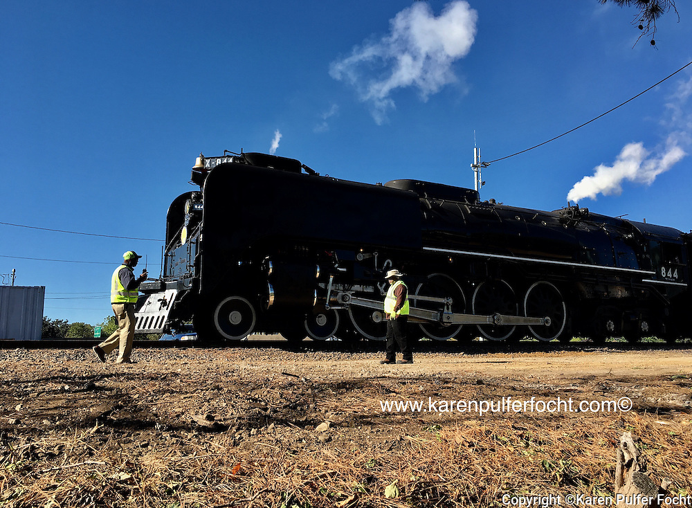 Union Pacific's 844 steam engine arrives in Memphis Saturday morning (Oct. 22) to mark the opening of the Big River Crossing. © Karen Pulfer Focht-ALL RIGHTS RESERVED-NOT FOR USE WITHOUT WRITTEN PERMISSION