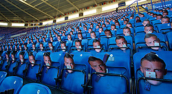 LEICESTER, ENGLAND - Boxing Day Monday, December 26, 2016: Thousands of Jamie Vardy masks put out for supporters ahead of the Leicester City versus Everton FA Premier League match at Filbert Way. Vardy is suspended for the game. (Pic by David Rawcliffe/Propaganda)