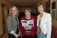 Noirin O Conghnaile, SCCUL , Catherine Conway and Mary Guckian, at the Launch of the SCCUL Sanctuary at Kilcuan, Clarinbridge .<br /> Photo:Andrew Downes