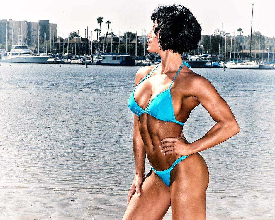 Ava Cowan on the shore at Marina Del Rey California