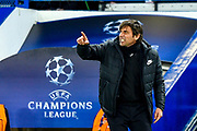 Chelsea manager Antonio Conte get angry during the Champions League match between Chelsea and Barcelona at Stamford Bridge, London, England on 20 February 2018. Picture by Martin Cole.