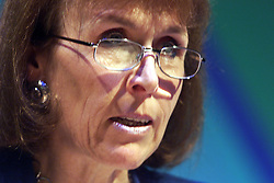CAROL ADAMS during The National Association of Head Teachers annual conference, Jersey, June 2, 2000. Photo by Andrew Parsons / i-images..